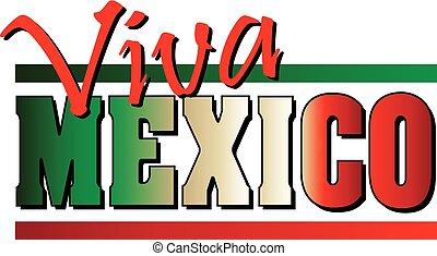 viva, messicano, messico, bandiera, bandiera, fondo, bordo