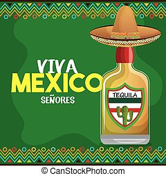 viva mexico tequila hat graphic
