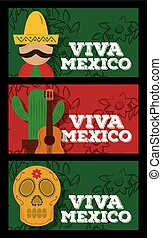 viva mexico traditional card