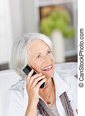 Vivacious beautiful woman on the telephone - Vivacious...