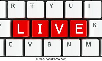 vivant, clavier ordinateur
