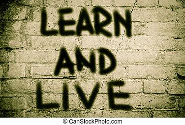 vivant, concept, apprendre