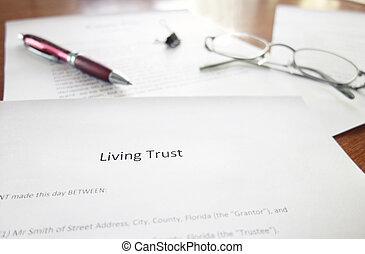 vivant, confiance, document