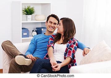 vivant, couple, aimer, salle, séance