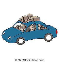 vivant, homme, voiture