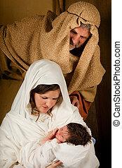 vivant, nativité