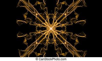 vivant, particules, motifs, mandala, vif, fractal, sguare, énergie, obtention, ornement, lumière