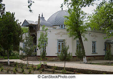 vivant, room., khonai, palais, ouzbékistan, hasht, mokhi-khosa, bukhara, sitorai