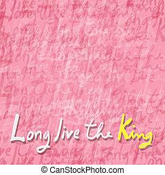 vivant, sien, king., long, majesté