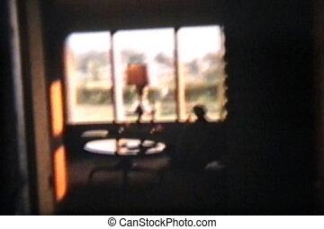 vivant, silhouette, salle, (1960)