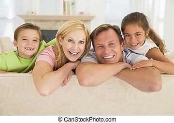 vivant, sourire, salle, famille, séance