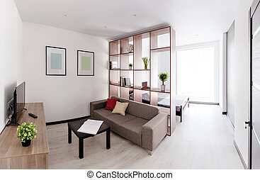 Vivant, spacieux, salle