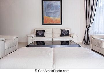 vivant, style, salle moderne