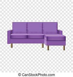 vivant, style, salle, pourpre, sofa, réaliste, mockup