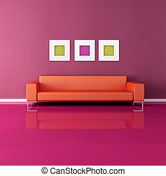 vivendo, colorido, sala