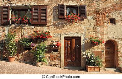 vivendo, em, tuscany