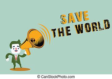 vivendo, proteja, conceito, texto, escrita, meio ambiente, significado, ecossistema, letra, salvar, world., espécie