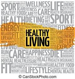 vivendo sano, parola, nuvola