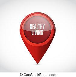 vivendo sano, puntatore, segno, concetto