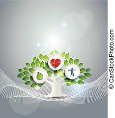 vivendo sano, simbolo