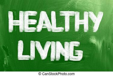 vivendo saudável, conceito
