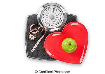 vivendo saudável, escalas