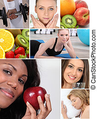 vivendo saudável, themed, montagem