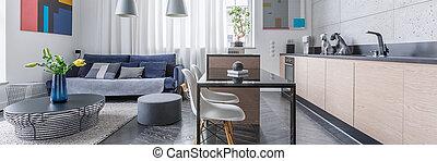 vivente, appartamento, stanza