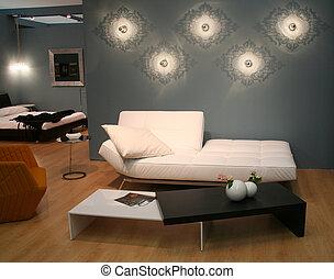 vivente, decorare, stanza, idee