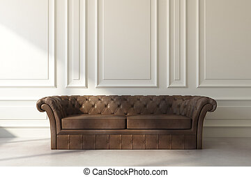 vivente, divano, stanza, luce sole, classico