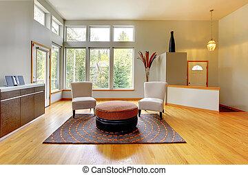 vivente, fantastico, stanza, moderno, interior., casa