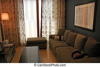 vivente, interiors, -, stanza, casa