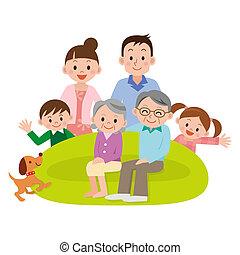 vivente, raccolto, stanza, famiglia