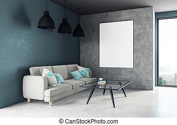 vivente, stanza moderna, manifesto