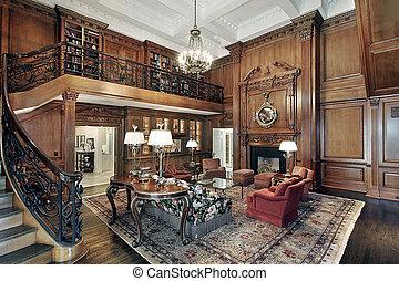 vivente, storia, stanza, secondo, balcone