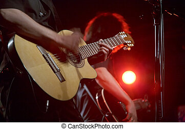 viver, guitarristas, concerto, dois