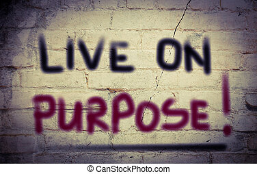 viver, ligado, propósito, conceito