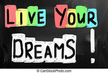 viver, seu, dreams!