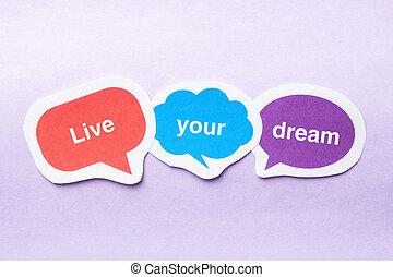 viver, sonho, seu