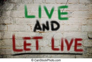 vivere, concetto, permettere