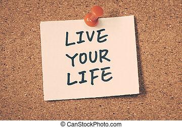vivere, vita, tuo