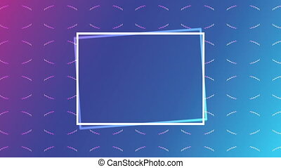 vivid and fluid color with rectangle frame background ,4k video animation