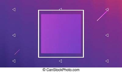 vivid and fluid color with square frame background ,4k video...