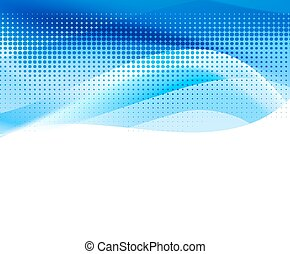 vivid blue abstract background with halftone. vector
