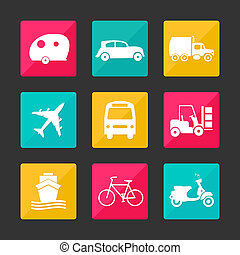 color collection transport icons