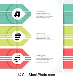 Vivid colored arrows infographics