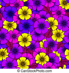 Vivid colors floral seamless pattern