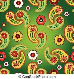Vivid green seamless pattern