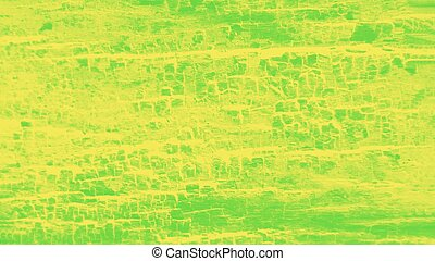 Vivid green yellow patchy background, wooden texture. Panorama