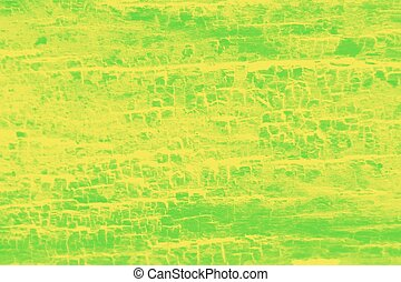 Vivid green yellow patchy background, wooden texture